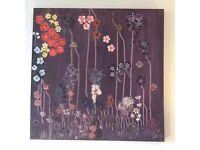 Abstract Wall Art; Purple Haze an Original Canvas 90 x 90 cm Hand Painted