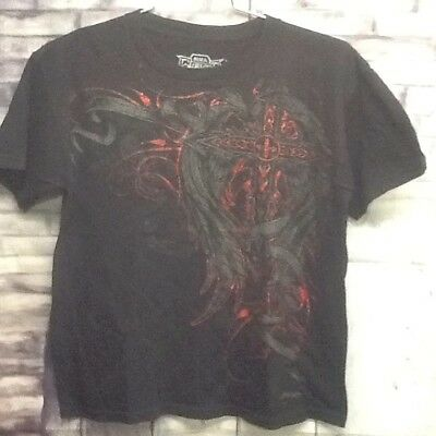 MMA Elite Boys Size 14/16 UFC Black Short Sleeve Graphic Tee Shirt for sale  Thorn Hill