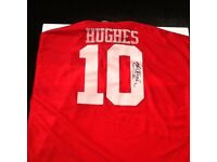 Signed mark Hughes shirt United legend £99