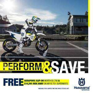 Husqvarna SM701 Motard Brand new Run out deal, free Akro Muffler. Seaford Frankston Area Preview