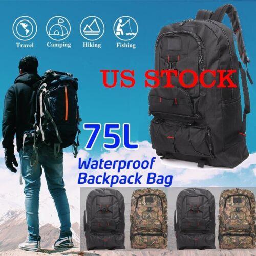 75L Large Capacity Waterproof Lightweight Nylon Tactical Ergonomic Bag Backpack