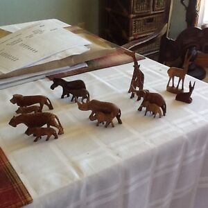 African Safari wooden animals