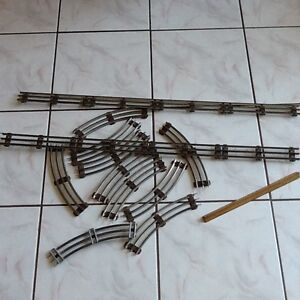 Original vintage lionel train tracks all metal