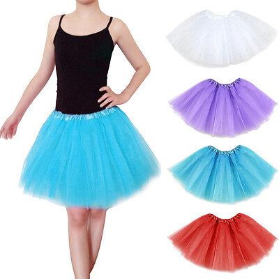 2017 Ladies Girls Tutu Skirt Fancy Skirts Dress Up Hen Party 3 Layers