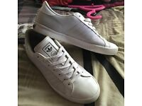Men's white adidas trainers size 8