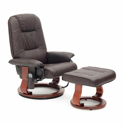 Ex-Demo Drive Napoli Faux Leather Heat Massage Armchair Swivel Seat Recliner