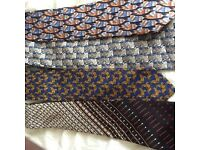 4 all silk designer ties. Asprey, Dior, 2 chloe