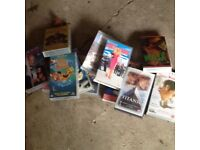 Selection of children's videos as can be seen in the photo also videos for youngsters or adults