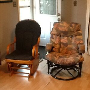 2 cloth rocking chairs