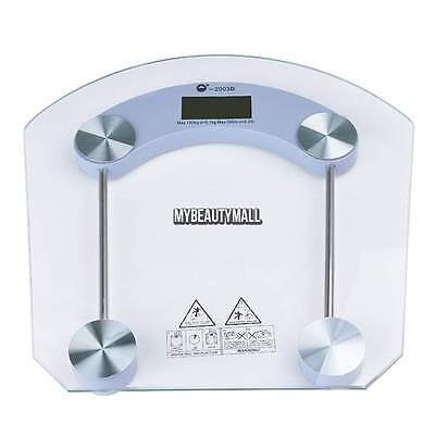 180KG/396LB Bathroom Personal Digital Body Weight Scale Safty Glass with LCD