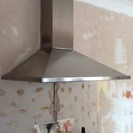Stainless steel cooker extractor fan