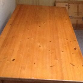 HEAVY SOLID PINE FARMHOUSE STYLE DINING TABLE 6'x3'