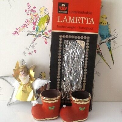 vintage christmas decorations kitsch Angel, lametta and more