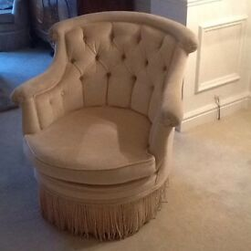PAIR OF FRENCH STYLE CREAM ARMCHAIRS