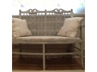 Love seat a late Victorian love seat up cycled and recovered
