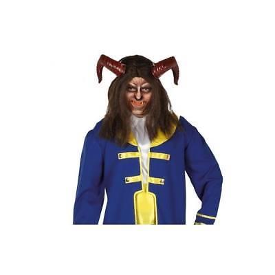 Mit Kapuze die Schöne und das Biest Maske Halloween Horror Kostüm Erwachsene ()