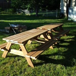 8' Hand Crafted 2x6 Cedar or Pressure Treated Picnic Table