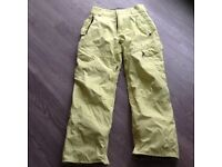 Mens small Surfanic , yellow salopettes/snow trousers front / back pockets / boot zips VGC