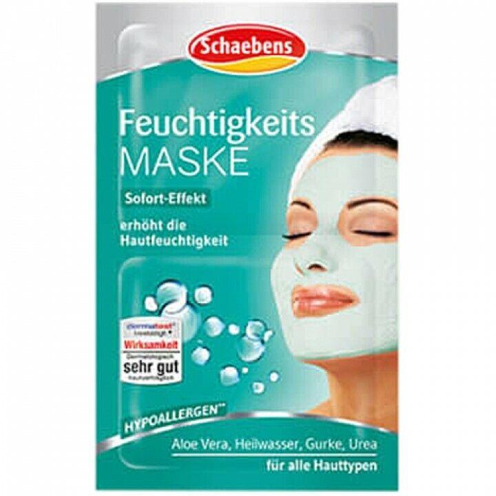 Schaebens Feuchtigkeits-Gesichts-Pflege-Maske mit Aloe Vera Urea als 3er+6er SET