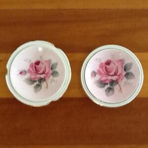 Vintage Paragon Pink Rose China Dish x 2 Taren Point Sutherland Area Preview