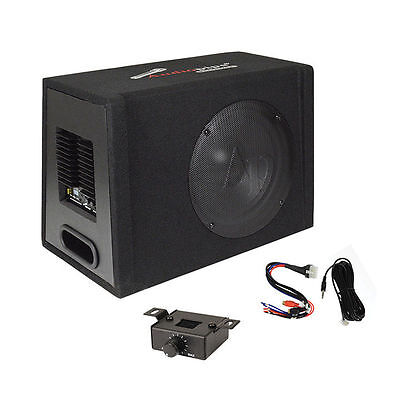 12  Car Audio Power Amp   Sub Woofer Active Bass Box Loaded Powered Subwoofer