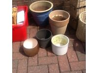 Job lot garden pots to clear £9.50 the lot