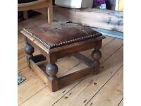 Victorian Oak Foot Stool