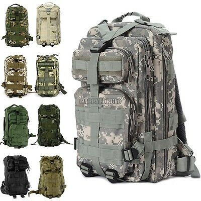 3P Outdoor Military Rucksacks Tactical Backpack Camping Hiking Trekking Bag