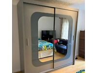 CLEARANCE SALE -- NEW CHELSEA SLIDING MIRROR DOORS WARDROBE IN DIFFERENT COLORS=