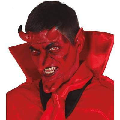 Demon Devil Prosthetic Kit Horns, Chin & Ears Halloween FX Fancy - Prosthetic Chin Halloween