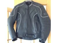 Buffalo motorcycle leather jacket only in as new condition size Uk 42 52 Eur.