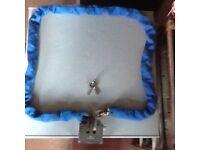 'Sterling 2m heavy duty chain/nylon covered case hardened links/armoured steel double slot padlock