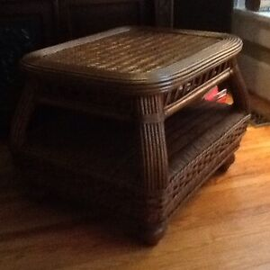 Gorgeous Wicker Table - Heavy Cultured Glass Protective Cover