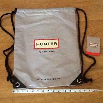 Hunter Boots Drawstring Backpack Nap Sack Black Grey Back Pack Gym Bag String Backpack Nap Sack