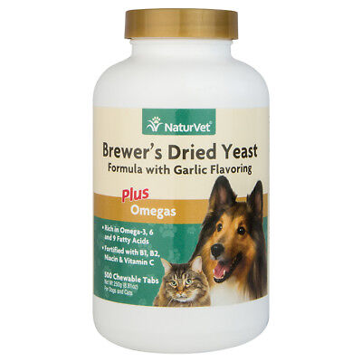 - NaturVet Brewer's Dried Yeast 500 Tabs for Dogs and Cats