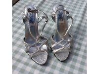 Ladies silver sandals size 5