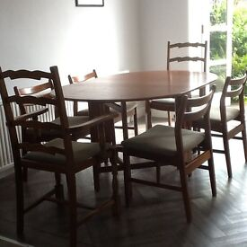 80s retro dining set mahogany dining table 4 chairs 2 carver chairs in crossgates