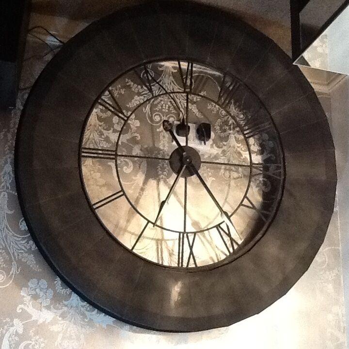 extra large cafe de la tour black wrought iron skeleton wall clock 150
