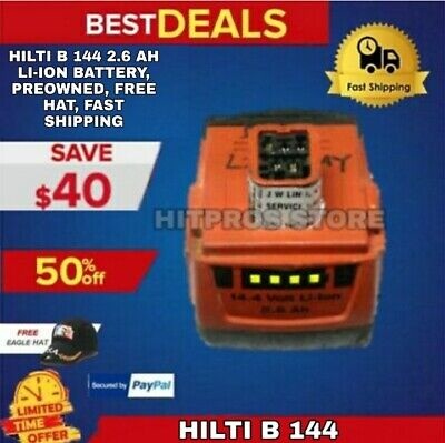 Hilti B 144 2.6 Ah Li-ion Battery Preowned Free Hat Fast Shipping
