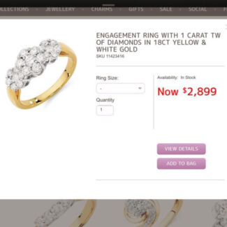 ENGAGEMENT RING WITH 1 CARAT TW OF DIAMONDS Como South Perth Area Preview