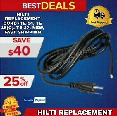 Hilti Replacement Cord Te 14 Te 16c Te 17 New Fast Shipping