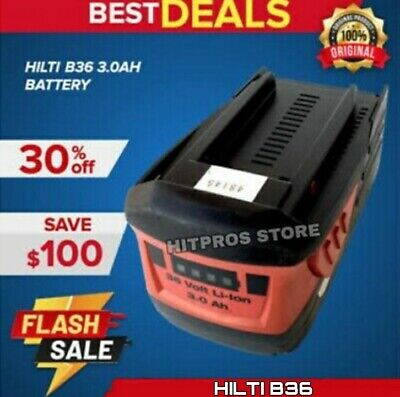 Hilti Lion-ion Battery Pack B 36 3.0 Lk Brand New Fast Shipping