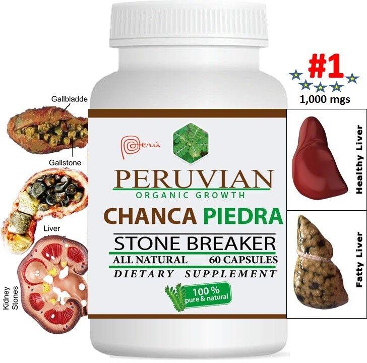 CHANCA PIEDRA Pure Stone Breaker 1800mg Urinary Tract Removes Impurities 120 cap 8