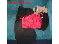 Bundle of Mixed Lot of clothes All you see in the Picture Sizes 16 and 18 Some New Swimsuit Trousers