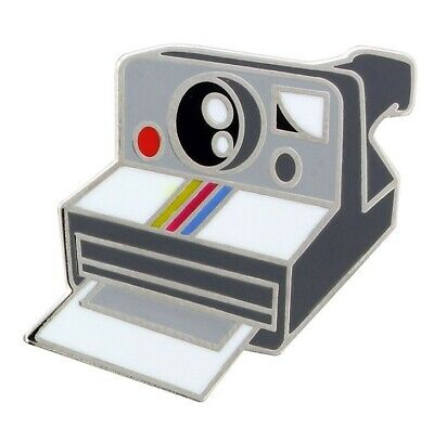 Retro Polaroid Camera Enamel Pin Badge instant photo photography old film gift