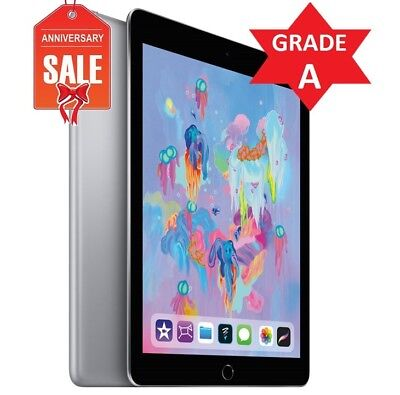 Apple iPad 6th Gen. 2018 - 32GB, Wi-Fi, 9.7in - Space Gray - GRADE A (R)