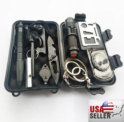 - New 10in1 Professional Survival Kit Outdoor Travel Hike Field Camp Emergency Kit