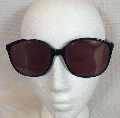 Vintage BROOKS Black Big Oversized Nerdy Hipster Eye Glasses Frames 58-17-140