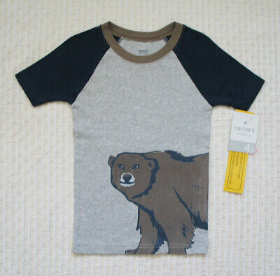 Carter's Sleepware Top | Short Sleeves | Bear | Boys | Gray | Size 4 - Boys Sleepware