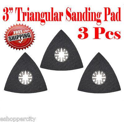 3 Pcs Oscillating Multi Tool Sanding Pad Fein Multimaster Dremel Milwaukee Ryobi